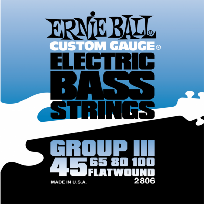 Ernie Ball 2806 Flat Wound Bass Group III (45-65-80-100) для бас-гитары