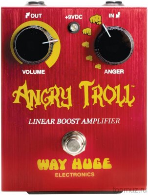 DUNLOP WHE101 Angry Troll Boost Педаль для гитары DUNLOP WHE101 Angry Troll Boost