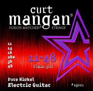 CURT MANGAN 11-48 Pure Nickel Wound Set струны для электрогитары