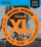 D'ADDARIO EJ20 Jazz Extra Light 10-49 струны для электрогитары