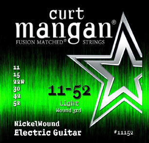 CURT MANGAN 11-52 Nickel Wound Set струны для электрогитары