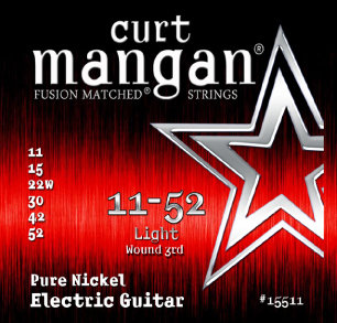 CURT MANGAN 11-52 Pure Nickel Wound Light Set струны для электрогитары