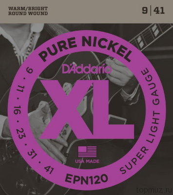 D'ADDARIO EPN120 Super Light 9-41 струны для электрогитары