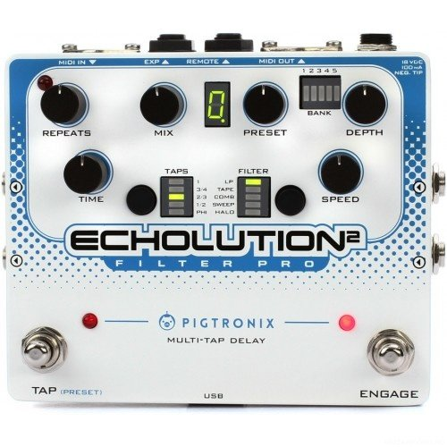 PIGTRONIX E2F Echolution 2 Filter Pro Delay эффект гитарный дилэй
