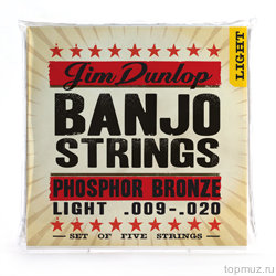 DUNLOP DJP Banjo Phosphor Bronze Light - Phosphor Bronze 9-20 струны для 4-струнного банджо