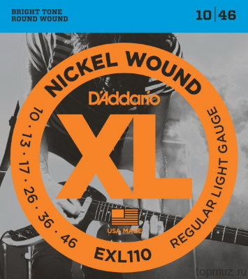D'ADDARIO EXL110 Regular Light 10-46 струны для электрогитары