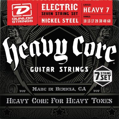 DUNLOP DHCN Heavy Core NPS HEAVY7 10-60 струны для электрогитары