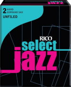RICO RRS10SSX2H Select Jazz Unfiled №2H 10 шт трости для саксофона-сопрано