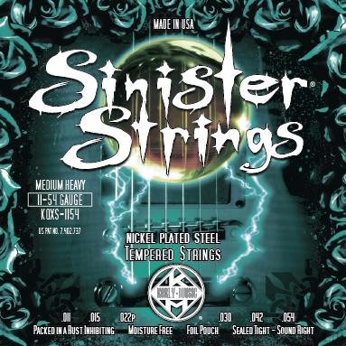 KERLY KQXS-1154 SINISTER STRINGS - NICKEL PLATED STEEL .011-.054 струны для электрогитары