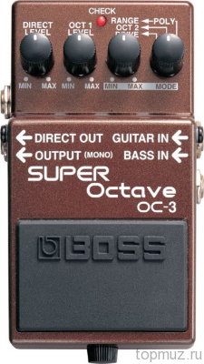 Педаль BOSS OC-3 Super Octave для электрогитар и бас гитар