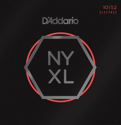 D'ADDARIO NYXL1052 Light Top/Heavy Bottom 10-52 струны для электрогитары