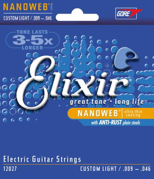 ELIXIR 12027 NanoWeb Anti-Rust Custom Light 09-46 струны для электрогитары