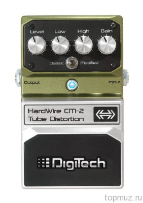 Педаль DIGITECH CM-2 Tube Distortion для электрогитары Tube Overdrive