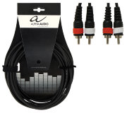 Аудиокабель 2 RCA Х 2 RCA  ALPHA AUDIO Basic Line (тюльпан), 1.5 м