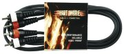 Аудиокабель 2 RCA Х 2 RCA HOT WIRE Basic Line (тюльпан), 1,5 м