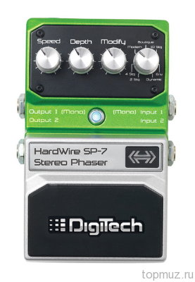 Педаль DIGITECH SP-7 Stereo Phaser для электрогитары
