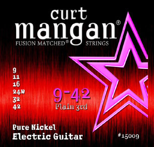 CURT MANGAN 09-42 Pure Nickel Wound Set струны для электрогитары