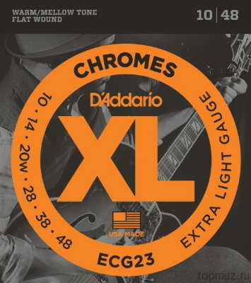 D'ADDARIO ECG23 Extra Light 10-48 струны для электрогитары