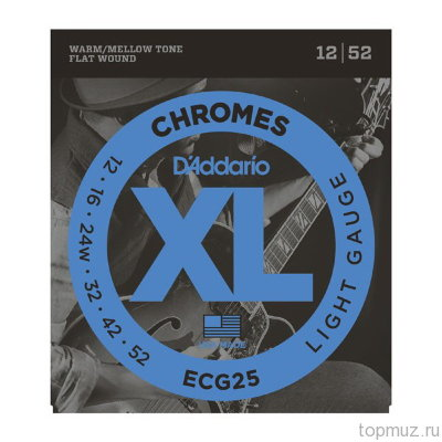 D'ADDARIO ECG25 Light, 12-52 струны для электрогитары