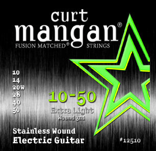 CURT MANGAN 10-50 Stainless Extra Light Set струны для электрогитары