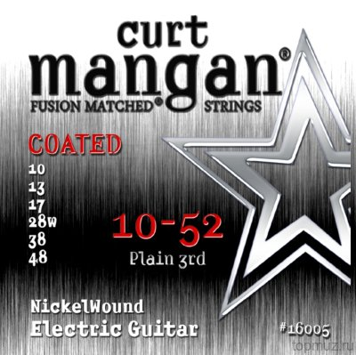 CURT MANGAN 10-52 Nickel Wound COATED струны для электрогитары