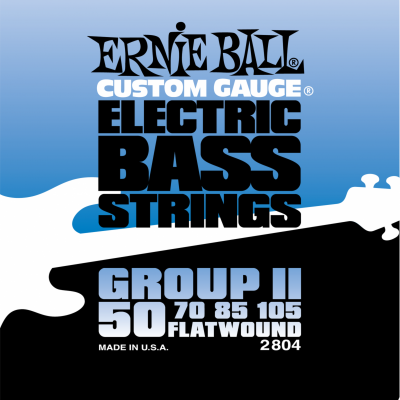 Ernie Ball 2804 Flat Wound Bass Group II (50-70-85-105) для бас-гитары