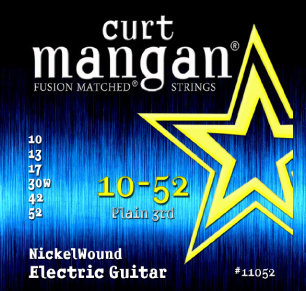 CURT MANGAN 10-52 Nickel Wound Set струны для электрогитары
