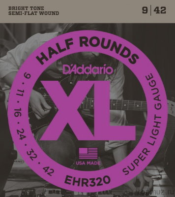 D'ADDARIO EHR320 Super Light 9-42 струны для электрогитары