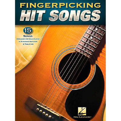 HL00160195 FINGERPICKING HIT SONGS GUITAR SOLO TAB BOOK