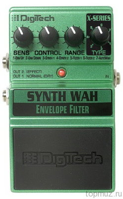 Педаль DIGITECH XSW Synth Wah для электрогитары, синтезатор Вау