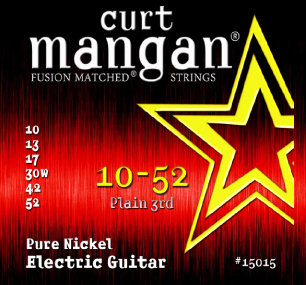 CURT MANGAN 10-52 Pure Nickel Wound Set струны для электрогитары