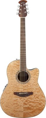 Ovation CS24P-4Q Celebrity Standard Plus Mid Cutaway Natural Quilt Maple электроакустическая гитара