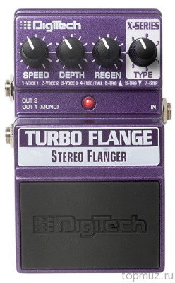 Педаль DIGITECH XTF Turbo Flange для электрогитары, фленджер