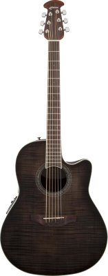 Ovation CS24P-TBBY Celebrity Standard Plus Mid Cutaway Trans Black Flame Maple электроакустическая гитара