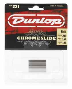 DUNLOP 221 Chromed Steel Medium Medium Knuckle (19 x 22 x 28mm, rs 9-10) слайд хромированный
