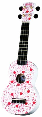 Укулеле сопрано MAHALO U-40HT Hearts Art Series Graphic Ukulele Outfit