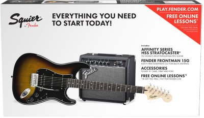 Squier Affinity Stratocaster® HSS Pack электрогитара+комбик+чехол