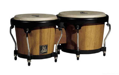 "LP LPA601-DW Aspire Wood Bongos Dark Wood/Chrome комплект бонго 6 3/4"" - 8"""