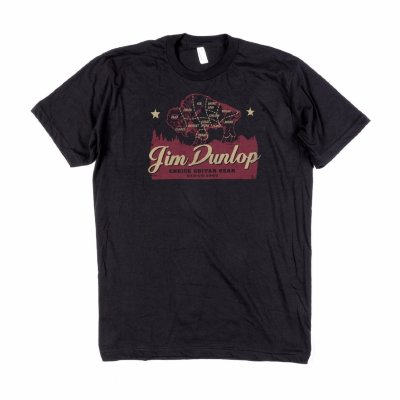 DUNLOP DSD07-MTS-L Jim Dunlop Americana Men's T-Shirt Large футболка