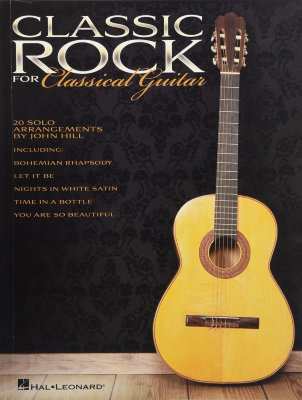 HL00703633 CLASSIC ROCK FOR CLASSICAL GUITAR SOLO GTR BK