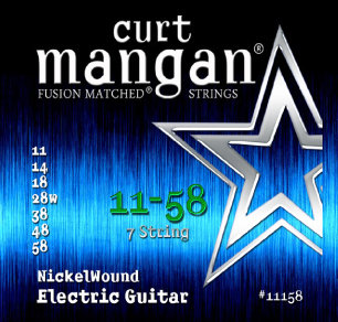 CURT MANGAN 11-58 Nickel Wound (7-String) Set струны для 7-струнной электрогитары