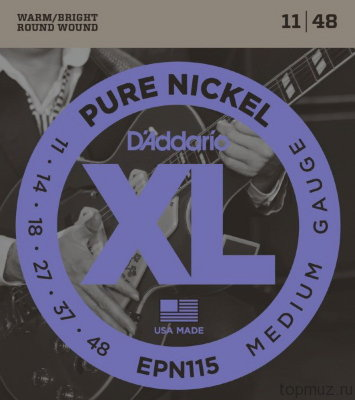D'ADDARIO EPN115 Blues/Jazz Rock 11-48 струны для электрогитары