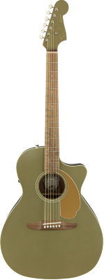 FENDER Newporter Player Olive Satin электроакустическая гитара