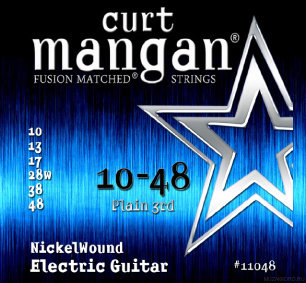 CURT MANGAN Electric Nickel Wound 10-48 струны для электрогитары