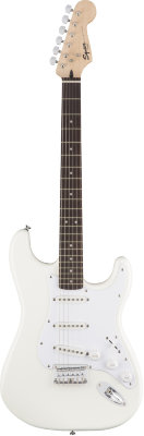 Fender Squier Bullet Stratocaster SSS Hard Tail, Rosewood Fingerboard, Arctic White электрогитара