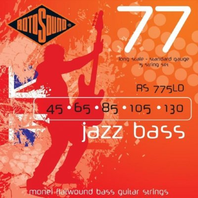 ROTOSOUND RS775LD JAZZ BASS FLATWOUND STRINGS MONEL