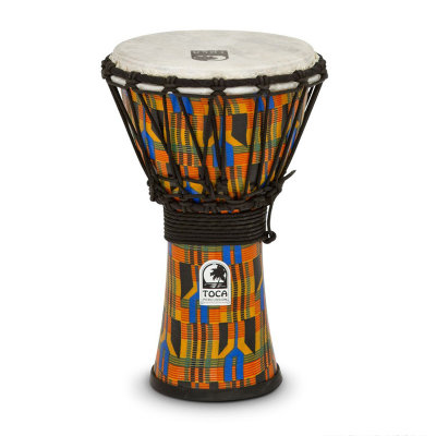 "TOCA SFDJ-7K Djembe Freestyle Rope Tuned Kente Cloth джембе 7""х12"""