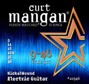 CURT MANGAN 9-46 Nickel Wound Set струны для электрогитары