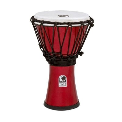 "TOCA TFCDJ-7PR Freestyle Colorsound Djembe X-Small Pastel Red джембе синтетический 7""х12.5"""