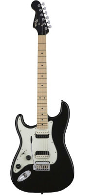 Fender Squier Contemporary Stratocaster HH Left-Handed, Maple Fingerboard, Black Metallic электрогитара